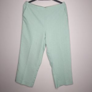 Alfred Dunner Green Plus Sz 18 Crop Pants